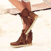 Load image into Gallery viewer, Suede Daily Tassel Ankle Boots