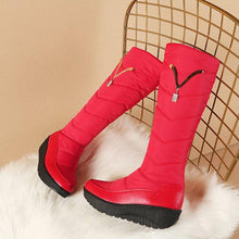 Load image into Gallery viewer, Pu Platform Mid-Calf Winter Boots Slip On Round Toe Snow Boots