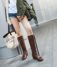 Load image into Gallery viewer, Women Block Heel Tassel Casual Pu Boots