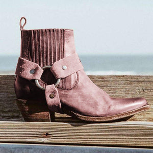 Suede Daily Low Heel Boots