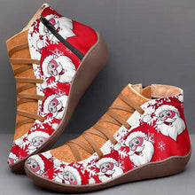 Load image into Gallery viewer, Comfy Christmas Boots Flat Heel Plus Size Party Shoes