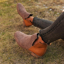 Load image into Gallery viewer, Casual Slip-On Block Heel  Womens Booties All Season Boots