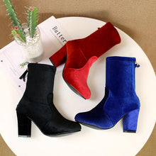 Load image into Gallery viewer, Elegant Back Zipper High Heel Suede Boots