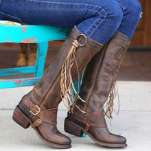 Load image into Gallery viewer, Tassel Flat Heel All Season Boots