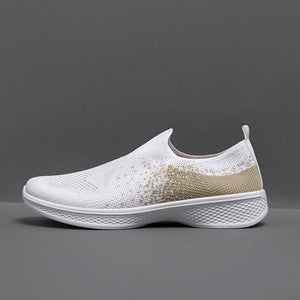 Elastic Cloth All Season Flat Heel Sneakers