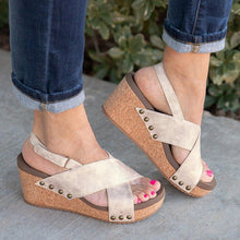 Load image into Gallery viewer, Women  Vintage Wedge Sandal  Shoes