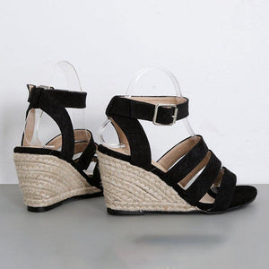 Women Comfortable Peep Toe Wedge Sandals