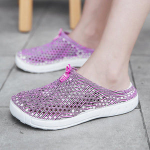 Women PVC Slippers Casual Comfort Slip On Beach Shoes