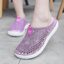 Load image into Gallery viewer, Women PVC Slippers Casual Comfort Slip On Beach Shoes