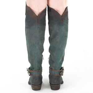Women's Knee-High Tall Boots Artificial Leather Buckle Strap High Boots