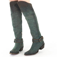 Load image into Gallery viewer, Women's Knee-High Tall Boots Artificial Leather Buckle Strap High Boots