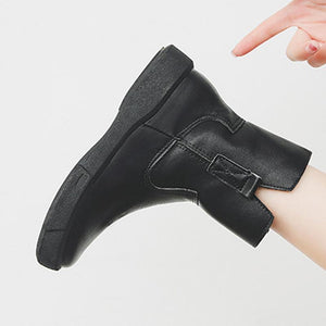 Women's  Low Heel Vintage Round Toe Boots