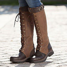 Load image into Gallery viewer, Women's Vintage Casual Leather Riding Boots