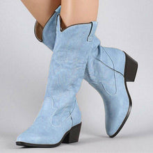Load image into Gallery viewer, Women Winter Slip-On Vintage Knee-High Boots