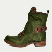 Load image into Gallery viewer, Pu Low Heel Outdoor Boots