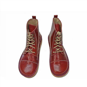 Red Lace Up Boots