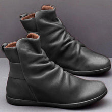 Load image into Gallery viewer, Women Artificial Leather Comfy Boot Shoes