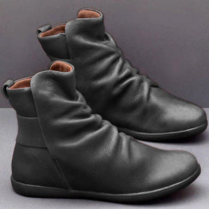 Women Artificial Leather Comfy Boot Shoes