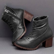 Load image into Gallery viewer, Women Casual Daily Zipper Chunky Heel Boots