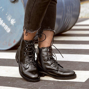 Lace-up Chunky Heel Daily Casual Boots
