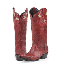 Load image into Gallery viewer, Winter Mid-Calf Star Boots Slip-On Artificial Leather Boots