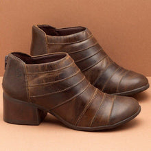 Load image into Gallery viewer, Women Casual Daily Back Zipper Artificial Leather Ankle Boots