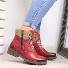 Load image into Gallery viewer, Women Casual Daily Lace Up Ankle Boots