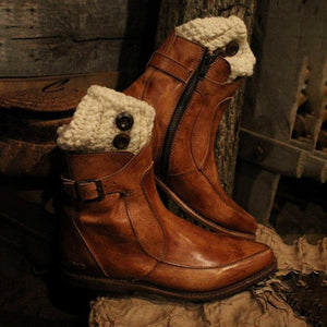 Winter Casual Low Heel Ankle Boots