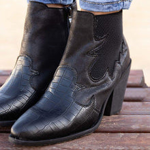 Load image into Gallery viewer, Women Vintage Daily Slip On Chunky Heel Ankle Boots