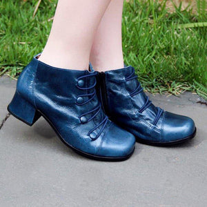 Women Winter Elastic Band Button Ankle Boots
