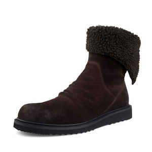 Winter Artificial Leather Warm Snow Boots Soft Fur Lined Casual Boots
