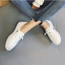 Load image into Gallery viewer, Womens Pu Casual Spring/fall Flat Heel Lace-Up Sneakers
