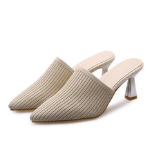 Load image into Gallery viewer, Summer Casual Spool Heel Pointed Toe Slippers