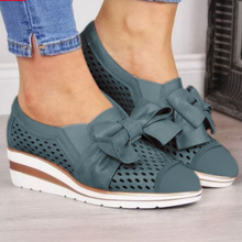 Load image into Gallery viewer, Bowknot Wedge Heel Summer Sneakers