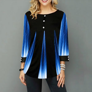 2020 Women New Summer Street hipster Print Blue Tops 3/4 Sleeve Loose Ladies Tee Shirt Plus Size 4xl 5xl Female T-Shirt