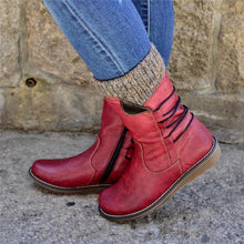 Load image into Gallery viewer, Pu Casual Low Heel Ankle Boots