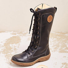 Load image into Gallery viewer, Women's casual lace-up zipper boots