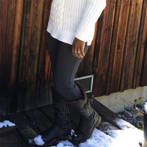 Women Casual Comfy Zipper Mid-Calf Warm Boots