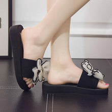 Load image into Gallery viewer, Bowknot Peep Toe Beach Casual Flat Sandals For Women