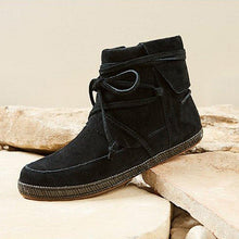 Load image into Gallery viewer, Women Winter Vintage Lace-Up suede Ankle Boots