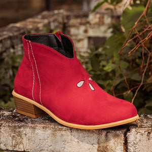 Red Faux Leather All Season Boots