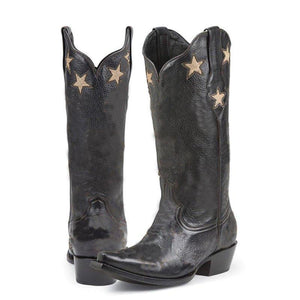 Winter Mid-Calf Star Boots Slip-On Artificial Leather Boots