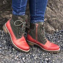 Load image into Gallery viewer, Women Lace Up Casual Daily Color Matching Boots