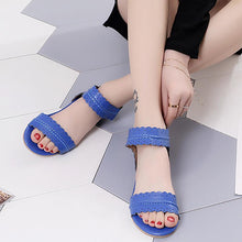 Load image into Gallery viewer, Holiday Flat Heel Sandals