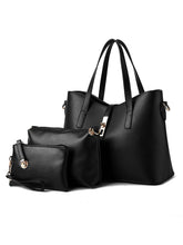 Load image into Gallery viewer, Three Pieces Pu Classic Shoulder Bag