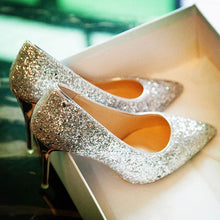 Load image into Gallery viewer, Sequined High Heels Wedding Shoes