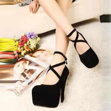 Load image into Gallery viewer, Sexy Cross Clasps High Heels Wedding Party Shoes