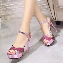 Load image into Gallery viewer, Lovely Bow-Knot Peep Toe Sandals Ladies Shoes