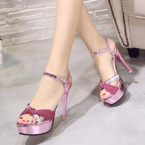 Lovely Bow-Knot Peep Toe Sandals Ladies Shoes