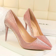 Load image into Gallery viewer, Fashion Sweet Shining Color Slim Heels Shoes